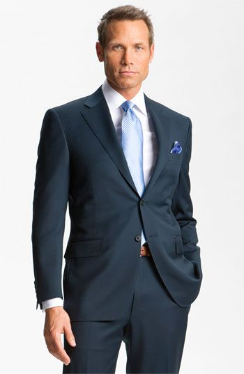 Canali Wool Suit available at #Nordstromweddings