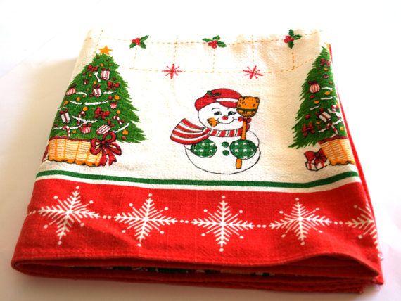 Christmas Santa Frosty Snowman Kitsch Square by FunkyKoala on Etsy