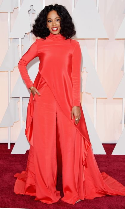 All the red carpet looks from the 2015 Oscars: Solange Knowles. Photo: Getty