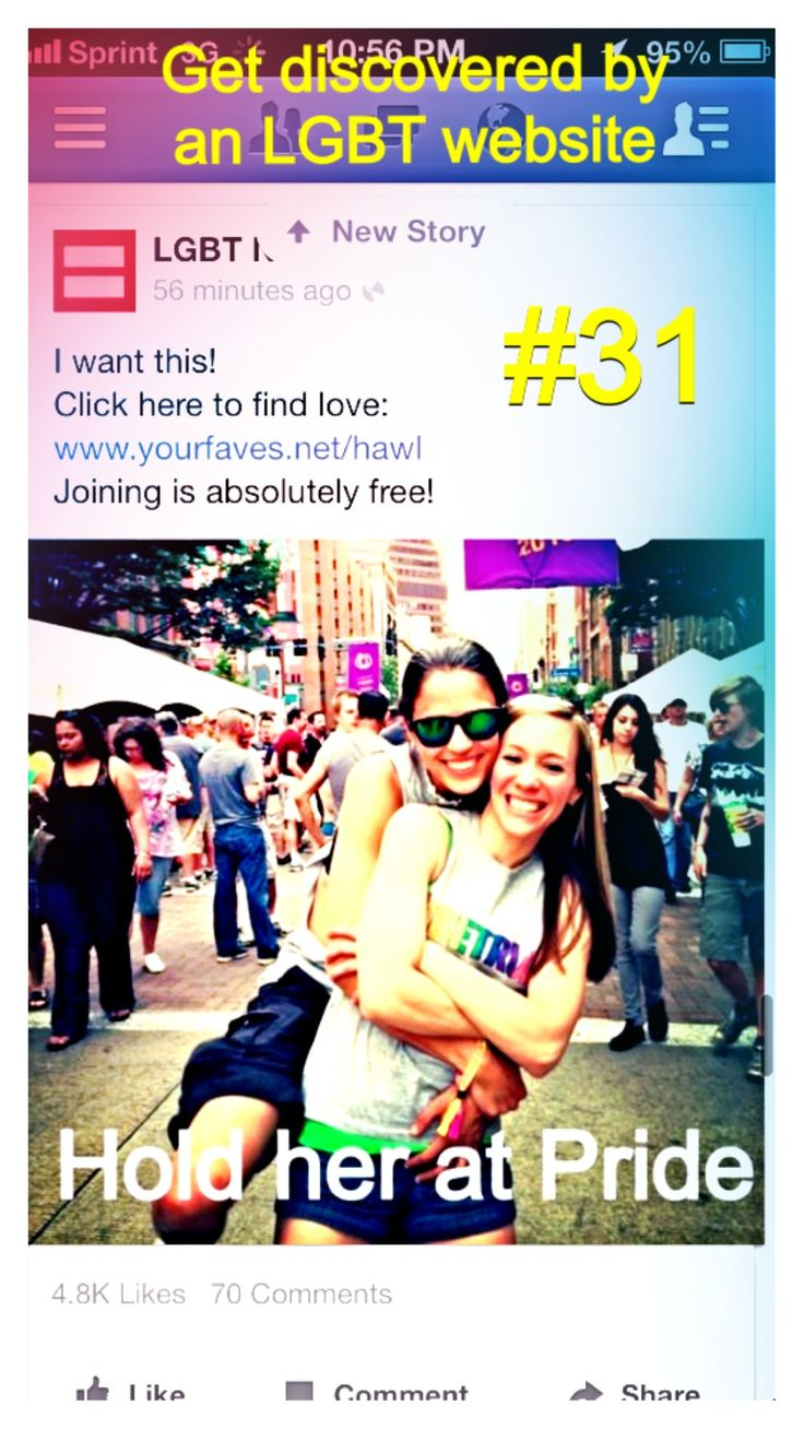 #31 Get discovered by an LGBT website #lesbian #love #lesbianlove #todo #lbgt #pride