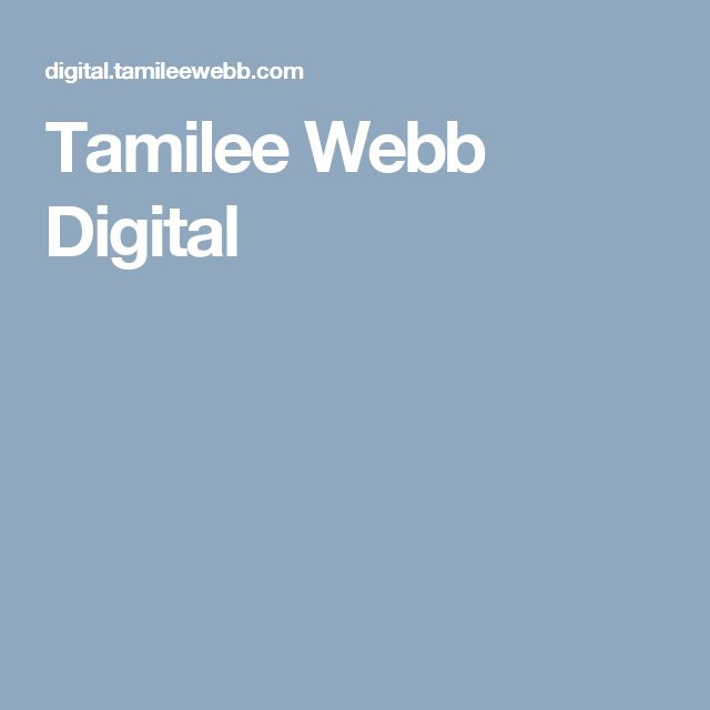 Tamilee Webb Digital