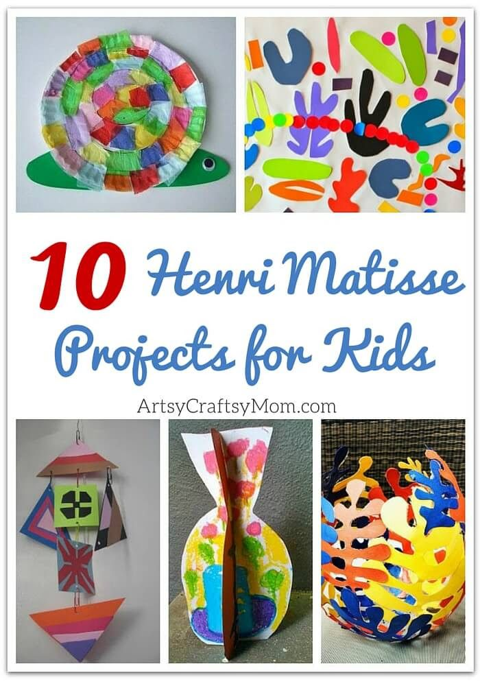 Top 10 Henri Matisse Projects for Kids ArtsyCraftsyMom | Kids Art, Craft, & Creative Activities