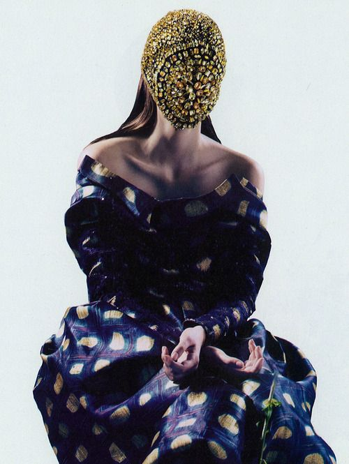 Dazed & Confused, October 2012October 2012, Holy Flower, Masks, Pierre Debus Scissors, Confused October, Zuzanna Bijoch, Fashion Photography, Dazed, Pierre Balmain