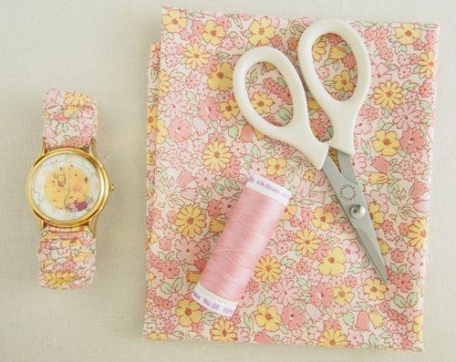 Fabric & Elastic Watch StrapTutorial - Pretty by Hand