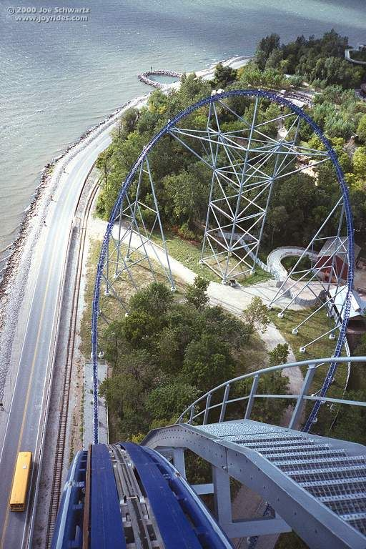 View from first drop - 80 degrees; 310 feet in the air. Millenium Force ... One of my favorite things