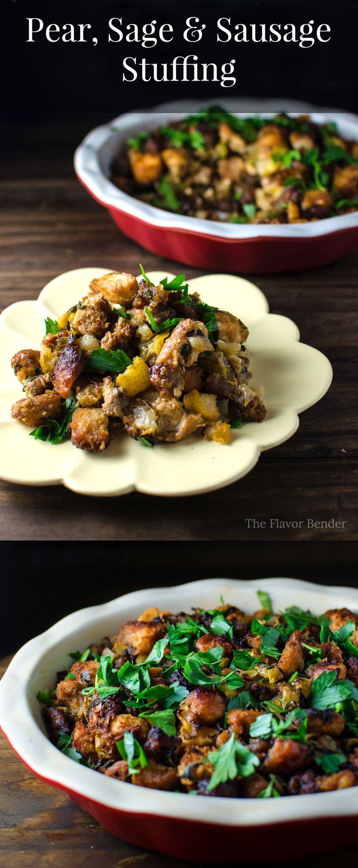Check out Pear, Sage and Sausage Stuffing. It's so easy to ...