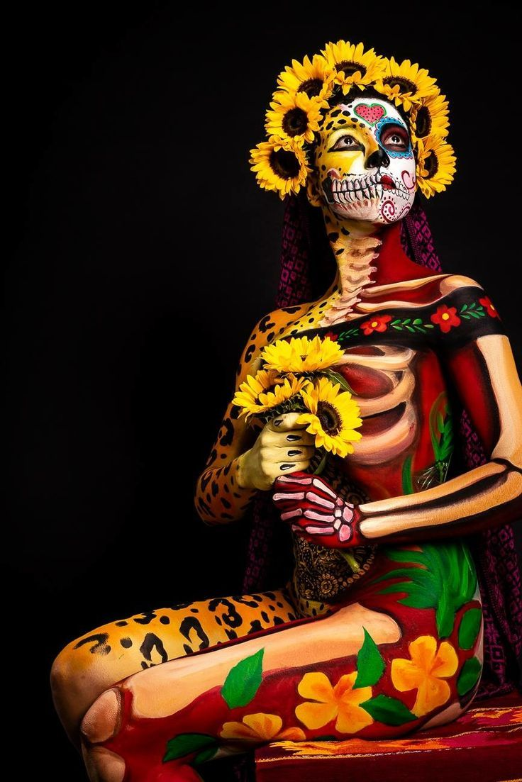 Muertos With Images Day Of The Dead Art Body Art Painting Mexican Art