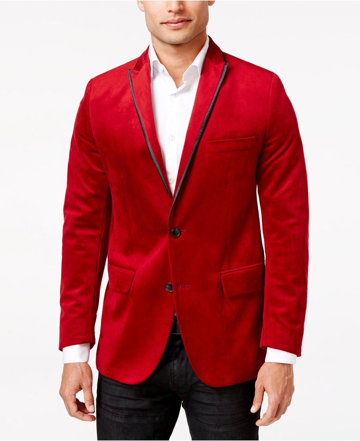 INC International Concepts Men's Rex Classic-Fit Velvet Blazer, Only at Macy's - #Gifts We Love - #Holiday Gift Guide - #Macys