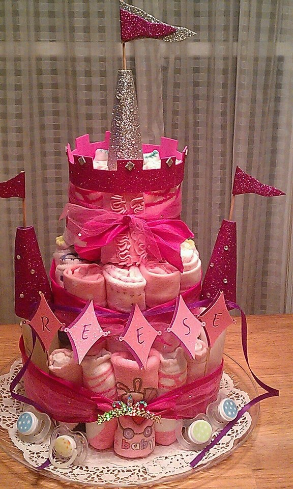 The Princess Castle Baby Shower Tower!