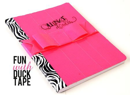 51 best notebooks images on pinterest notebooks for Duck tape craft book
