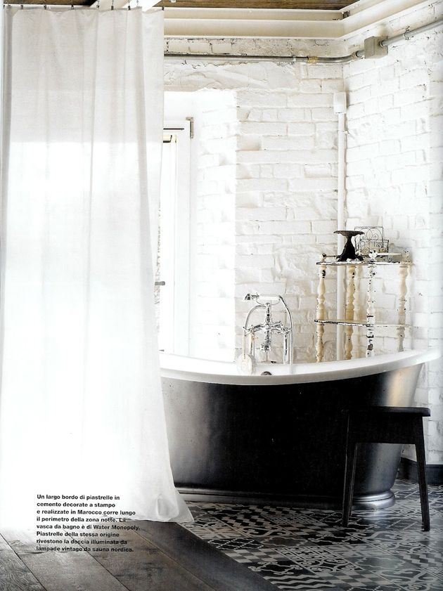 Somewhere I would like to live: An industrial white home by Paola Navone #whitetile