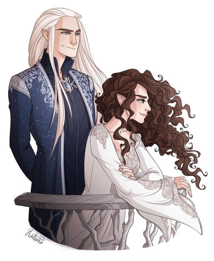 Thranduil and his wife by hatteeho