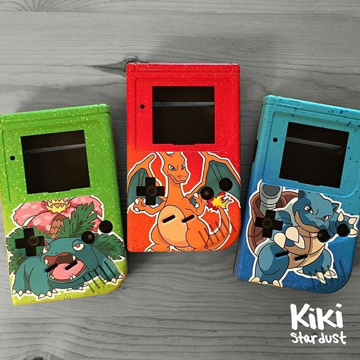 """#pokemonday #1  Evolved Kanto starter Gameboy covers by @kiki.stardust  #pokemon #videogameart #nintendo  Thanks again Kiki! =)  -  Trivia: In…"""