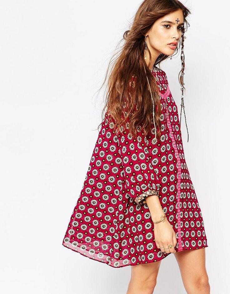 Bild 1 von Native Rose – Daisy Roots – Hängerkleid mit Blusonärmeln