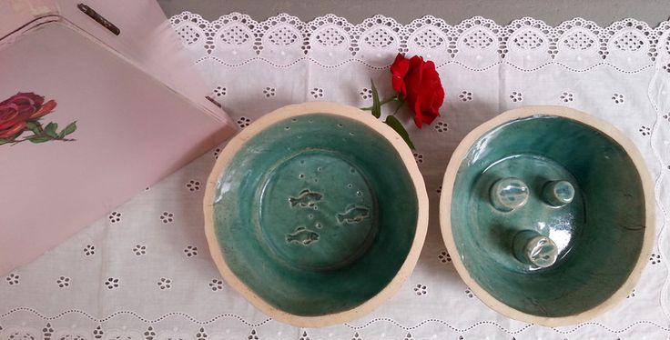 Näpfe & Unterlagen - ♥♥♥ Futternäpfe für Schlinger - 1Paar ♥♥♥ - ein Designerstück von art-mate bei DaWanda