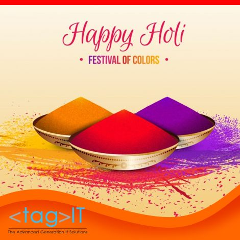 Enjoy the color of happiness and fun #TagItsolutions wishing you a splendid #Holi !!