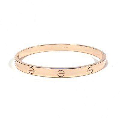 Een prachtig glanzende bangle in een helder bronzen kleur. Heel minimalistisch en daardoor extra stijlvol!