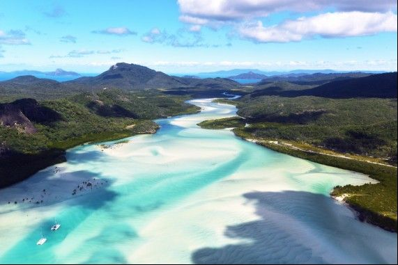 The Whitsunday's in far north Queensland.