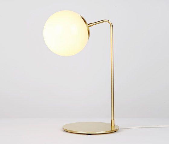 Modo desk lamp brass cream by Roll & Hill