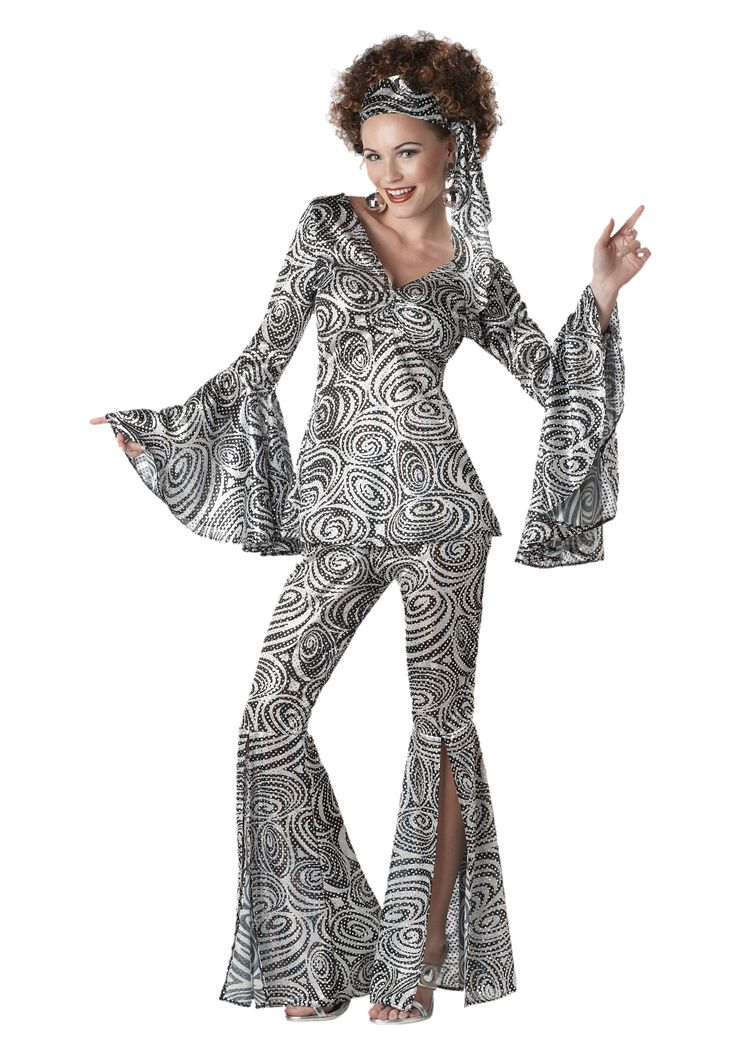 Because it's Halloween time, a few nods to costumes: Women's Foxy Lady Disco Costume ($38.99).