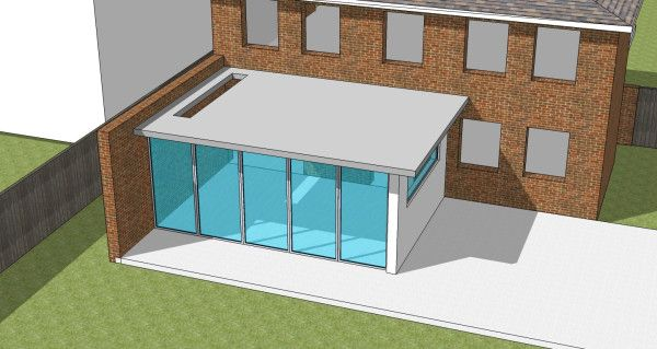 Sketch design for house extension
