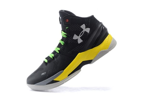 UA Steph Curry 2 Two Black Electric Yellow Silver  7101b66a5