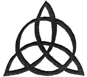 The triskele or triskelion is a three pronged spiral.  To ancient Celts it represented the triple Goddesses, or the cycle of life, death, and rebirth.  The triad is a symbolic of the cyclical nature of life and suggestive of the endless succession of cycles in our own lives.  The triple spiral, or triskele, reminds us of the three stages of life, the three levels of awareness.