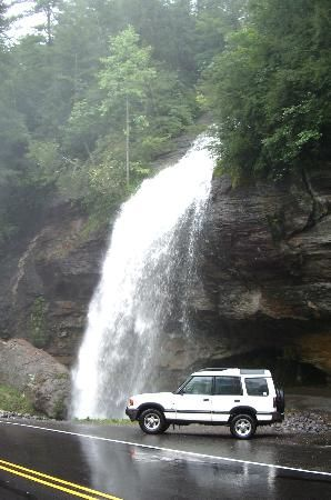 Bridal Veil Falls, NC, this one you  can drive under!