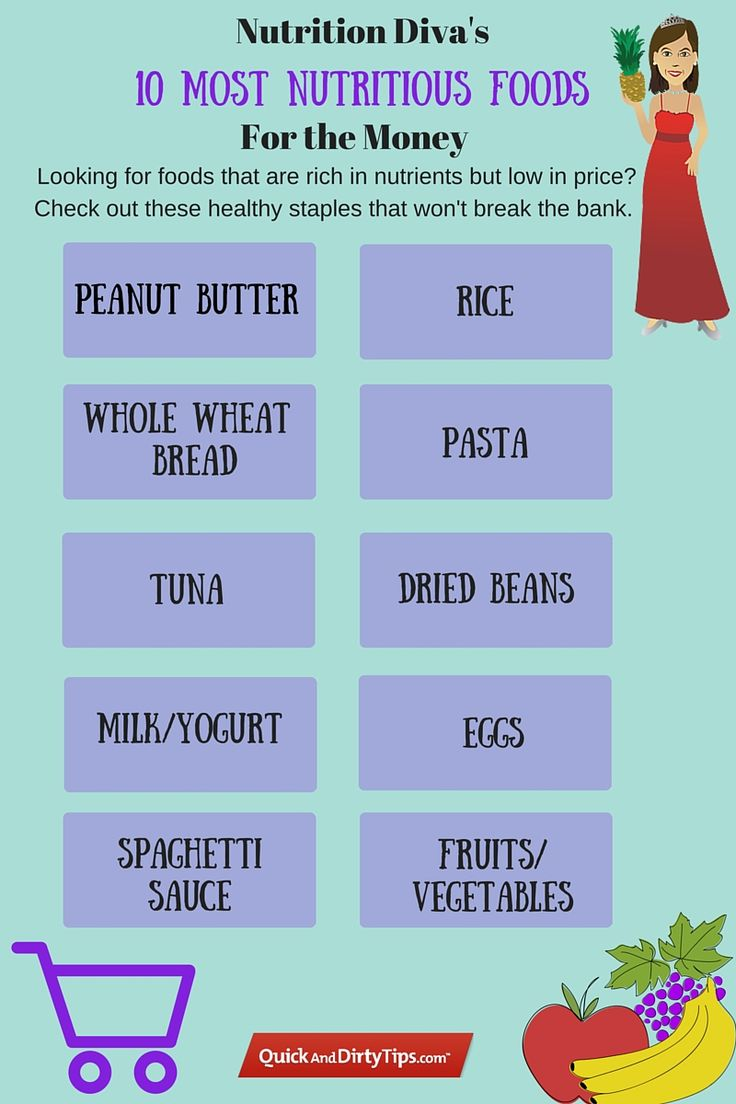 10 Most Nutritious Foods That Don't Break the Bank #QDT #QuickandDirtyTips #NutritionDiva