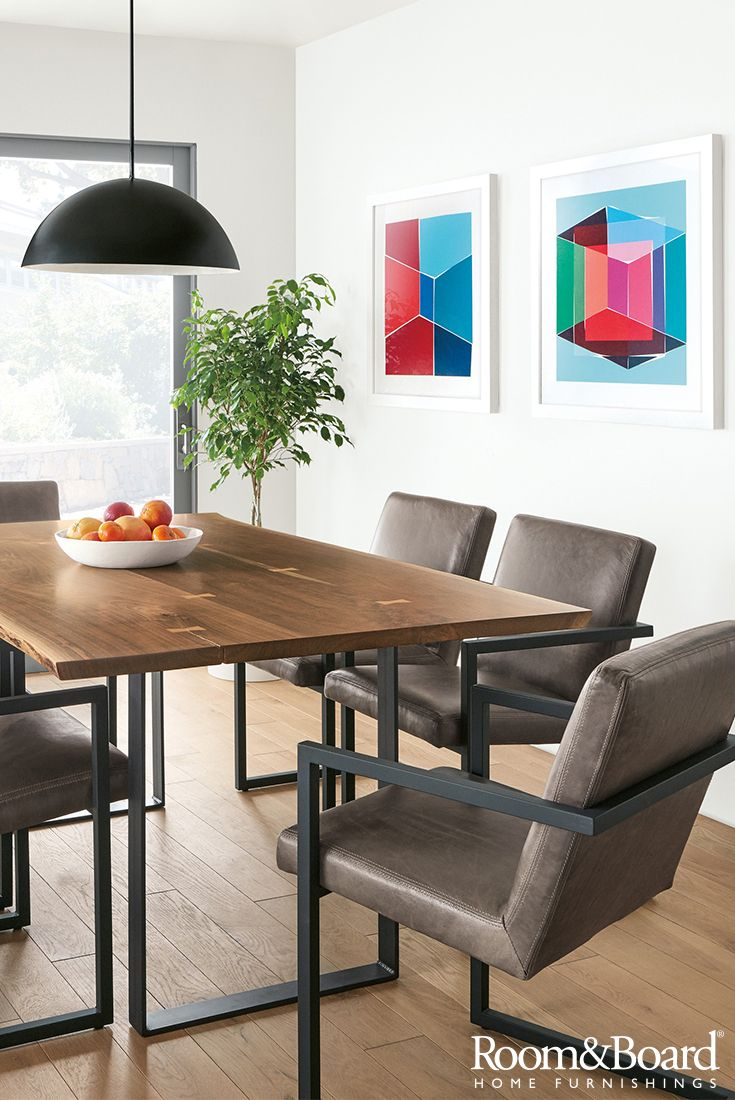 Find modern, American-made dining furniture that strikes the perfect balance of beauty and durability.