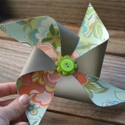 Nothing says Spring like pinwheels! Learn how to make your own - even the kids can make these!