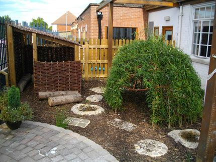 let the children play: creating quiet spaces outdoors at preschool