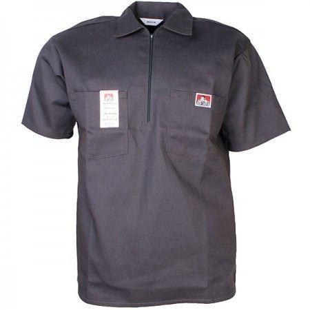 Ben davis made in usa short sleeve work shirt charcoal for Usa made work shirts