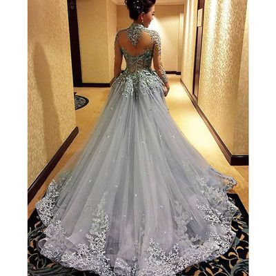 Gorgeous Prom Dress, Sexy Prom Gown, Long Sleeve