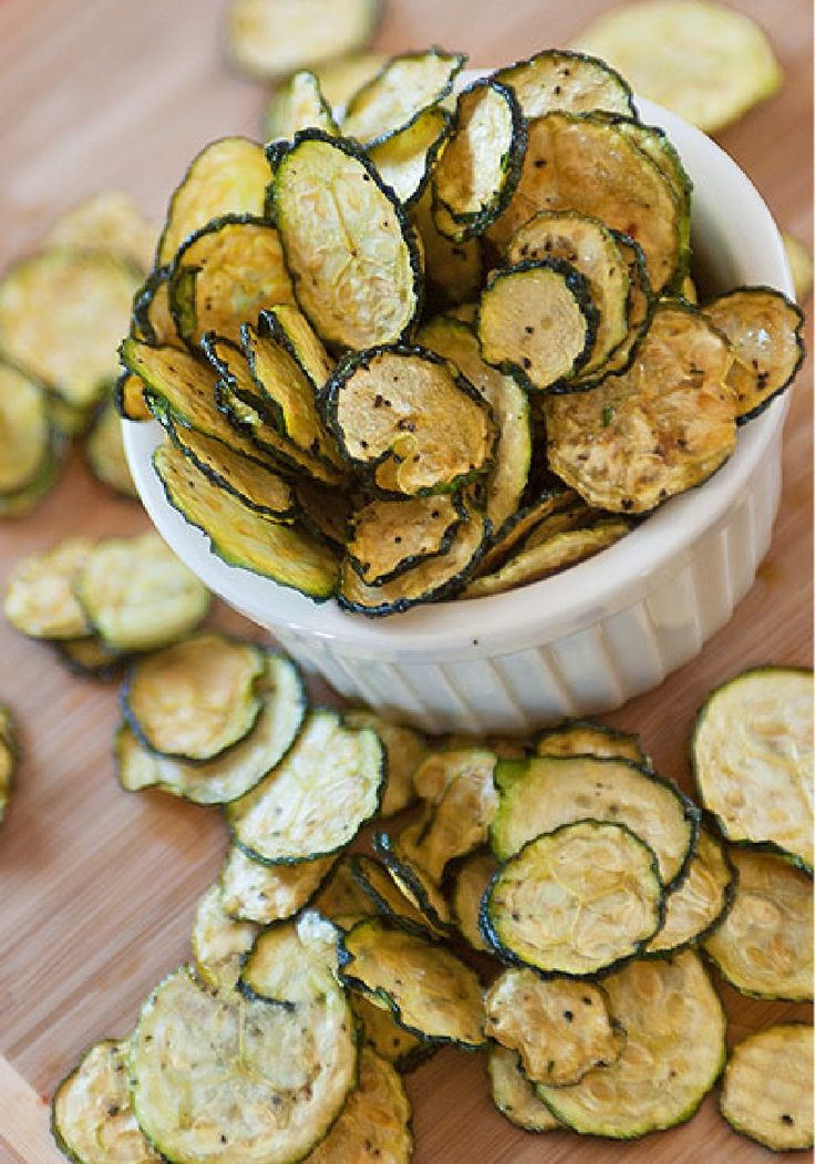 Delicious and healthy — salt and pepper zucchini chips!
