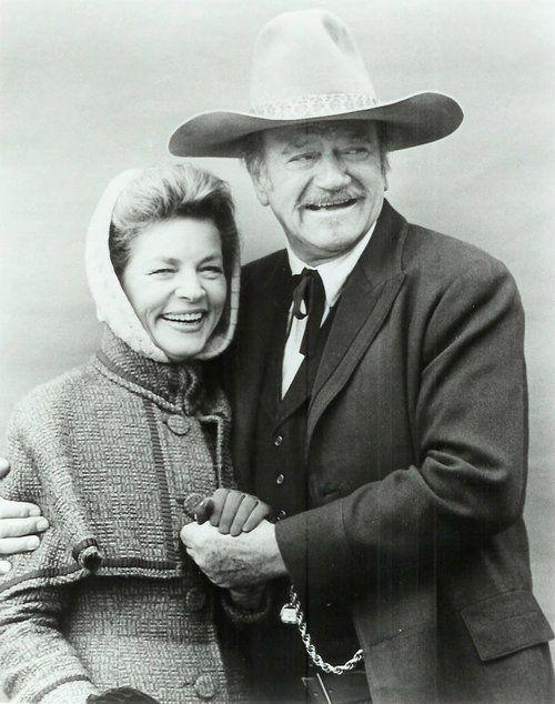 Lauren Bacall And John Wayne - The Shootist