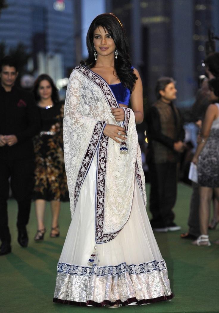 GORGEOUS White Wedding Saree