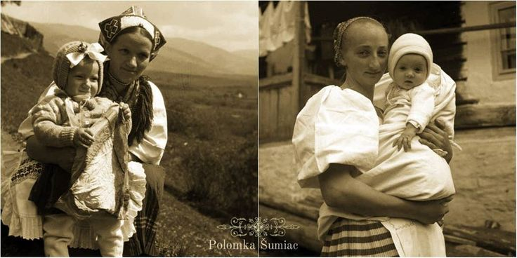 Horehronské matky - Polomka,Šumiac,Slovakia, 50-te roky