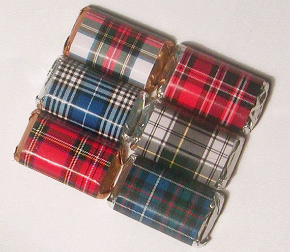 Instant Download Tartan Plaid Printable Mini Candy Wrappers