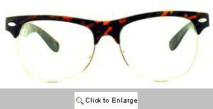 Taylor Thick Bridge Clubmasters Glasses - 101CL Tortoise