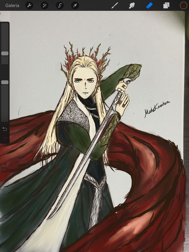This is my version of Thranduil. It was hand-drew and digitally painted #thranduil #tolkien #thehobbit #elves #elvenking