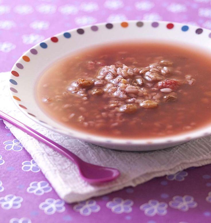Watergruwel: soupe d'orge aux raisins secs et jus de groseille (Hollande)