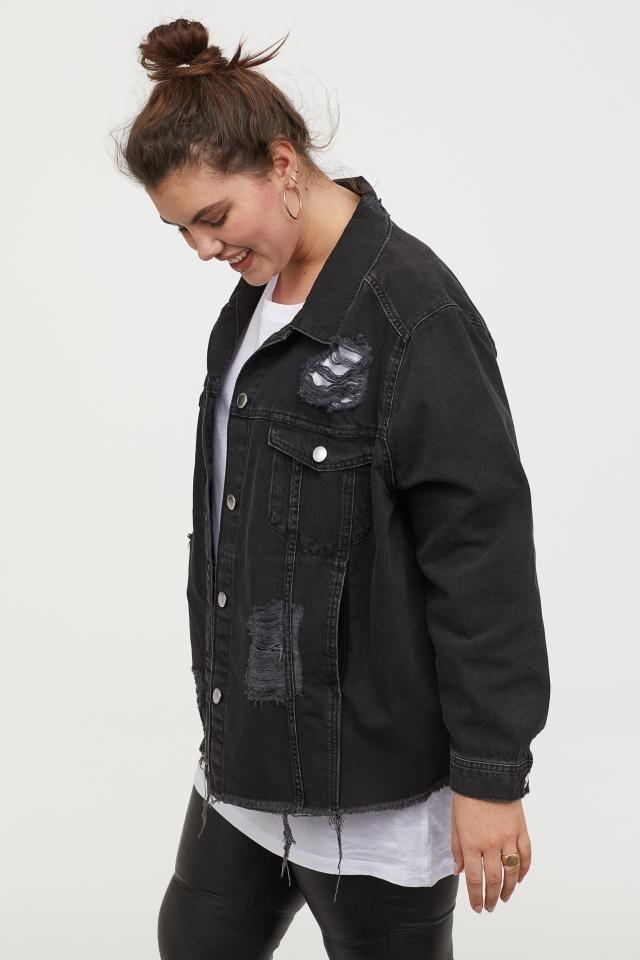 H M Denim Jacket Black Ladies H M Us H M Denim Jacket Black Denim Jacket Denim Jacket