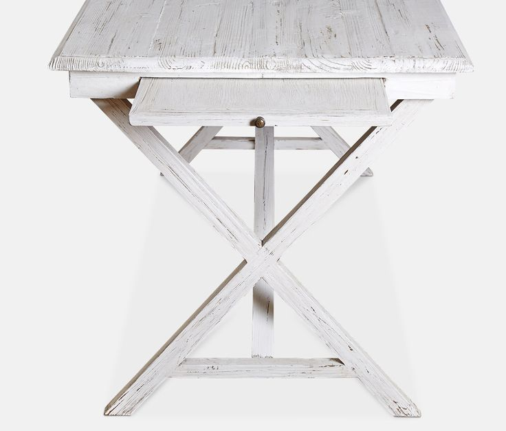 Desk, modern country style in distressed white