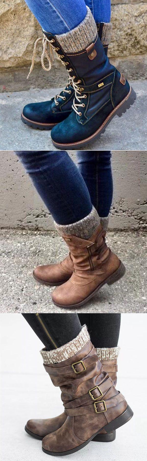 66% OFF>>All Season Flat Heel Boots