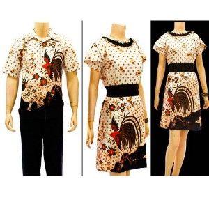 Sarimbit dress batik / Dress batik for couple motif Cendrawasih now available at tokobatikyogya.com