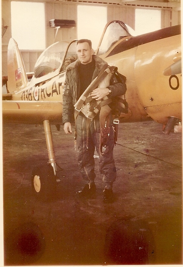 My Dad....T.G. Pickering...RCAF Chipmunk training 1961 (Royal Canadian Air Force)
