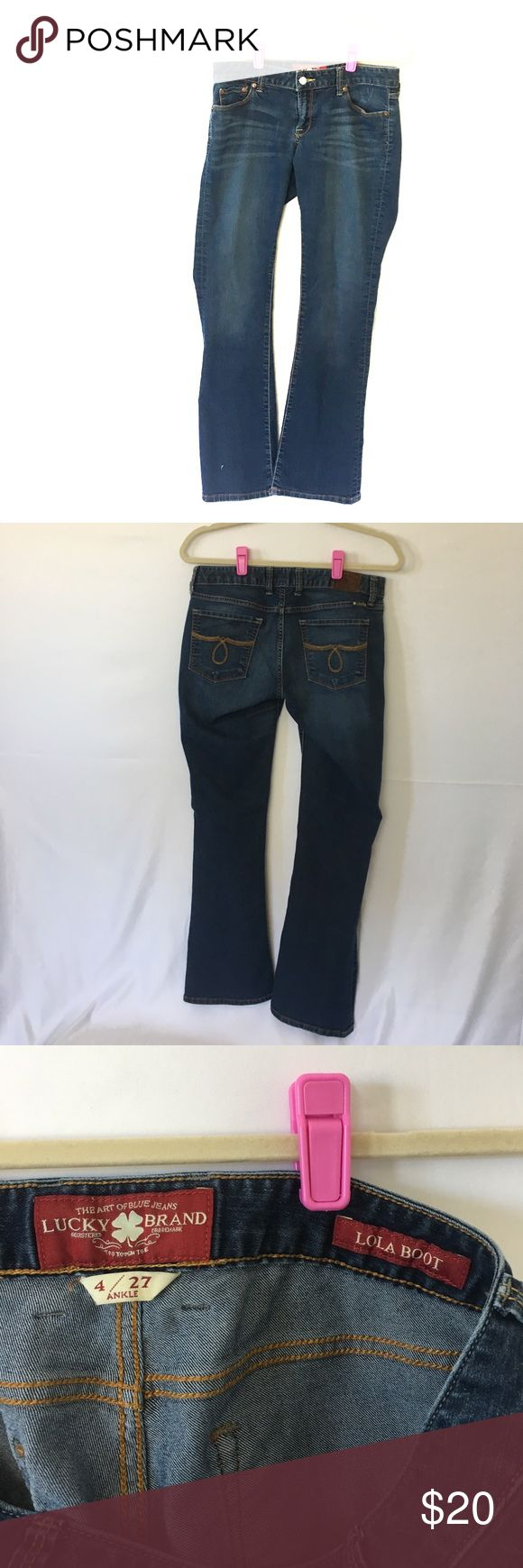 Lucky Jeans Lucky Jeans Lola Boot. Ankle 4/27. Great condition priced to sell Lucky Brand Jeans Boot Cut