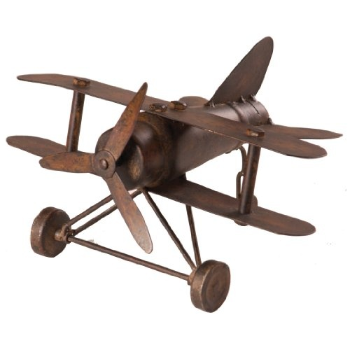 Metal decorative bi plane decor vintage pinterest for Aircraft decoration
