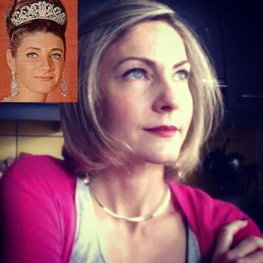 الأميرة فوزية بنت الاميرة شاهيناز بهلوى جدتها الأميرة فوزية بنت الملك فؤاد, princess Shahnaz Pahlavi daughter of Shah of Iran and princess Fawzia